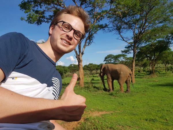 Jesse at Queen Elizabeth National Park