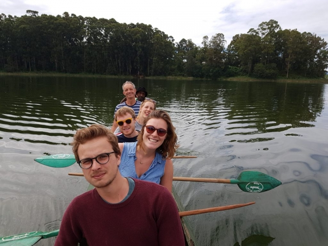 Canoe at lake Bunyoni Uganda