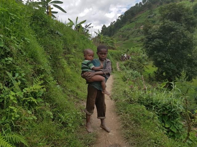 Kids at Lake Mutanda Uganda